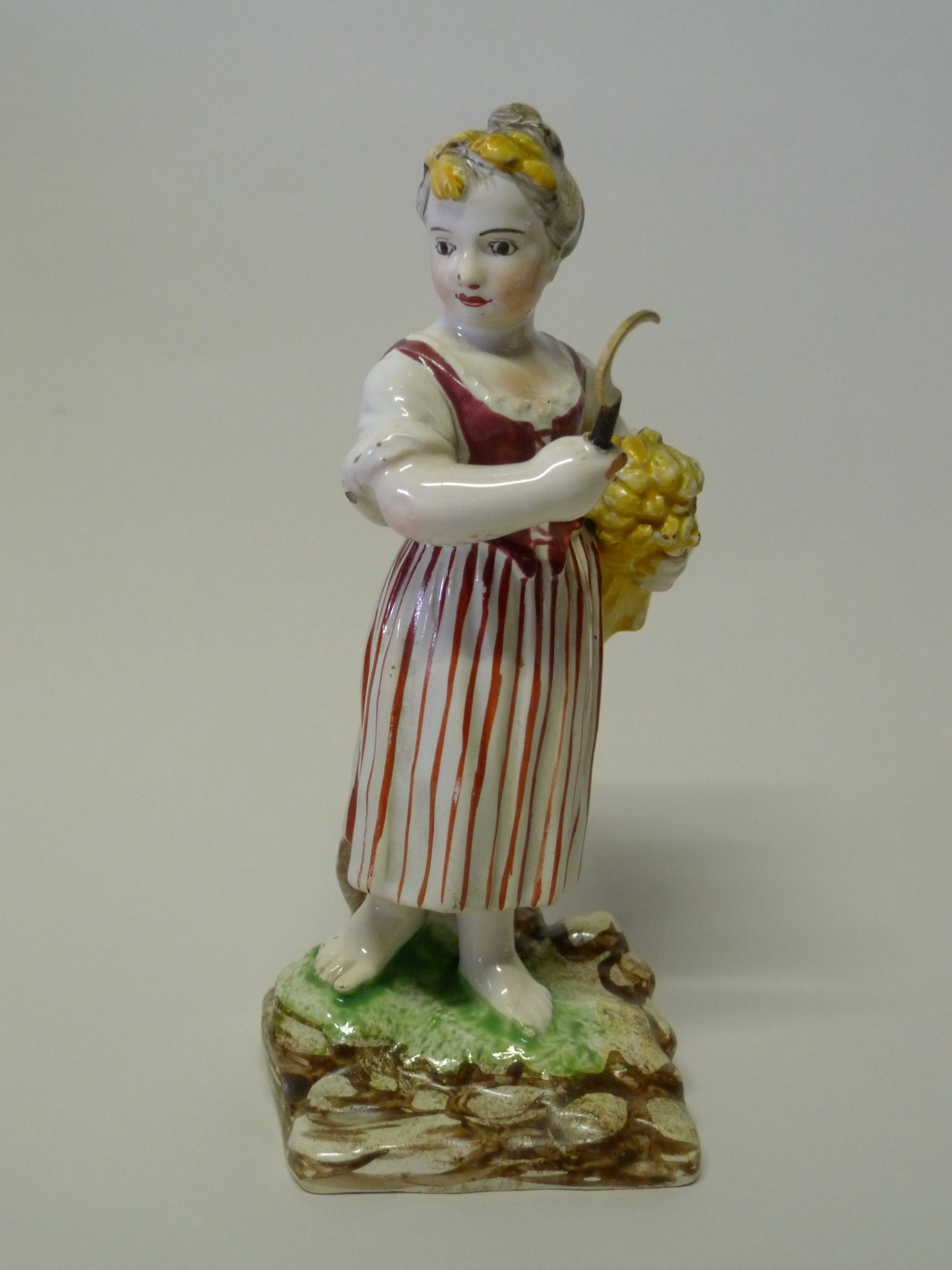 """St Clément, statuette, fin 18ème siècle, faience<br><p style=""""color:red;"""">Accès réservé membres</p>"""